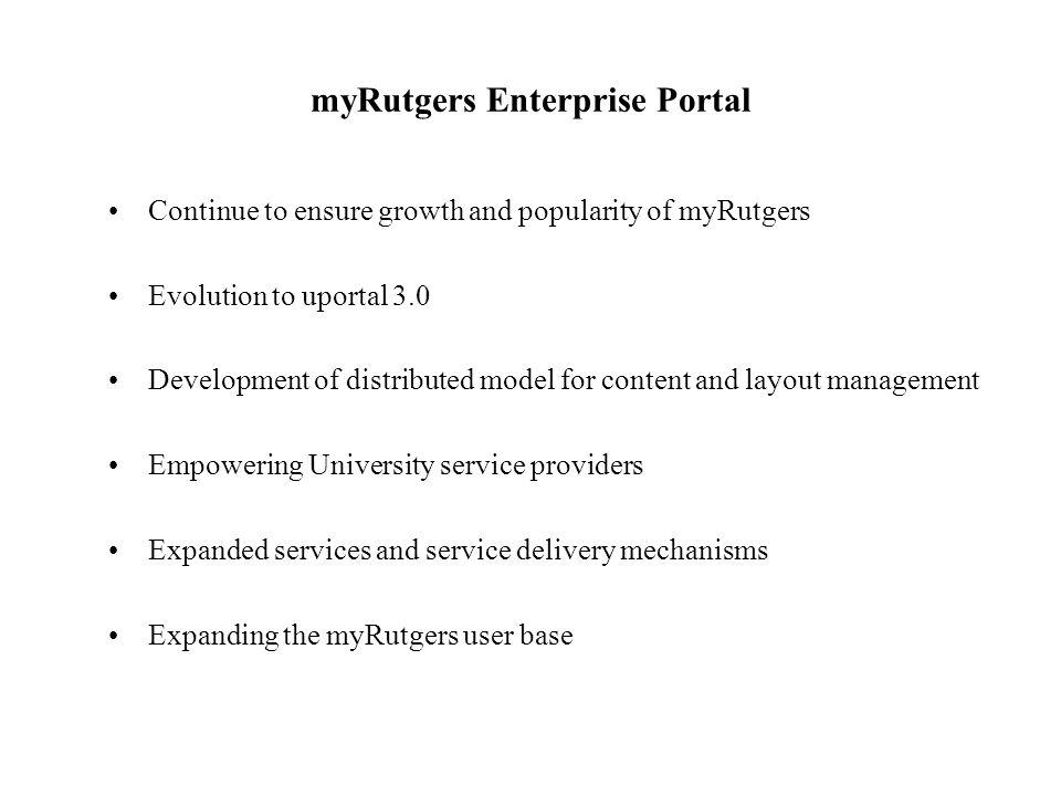 myRutgers Enterprise Portal