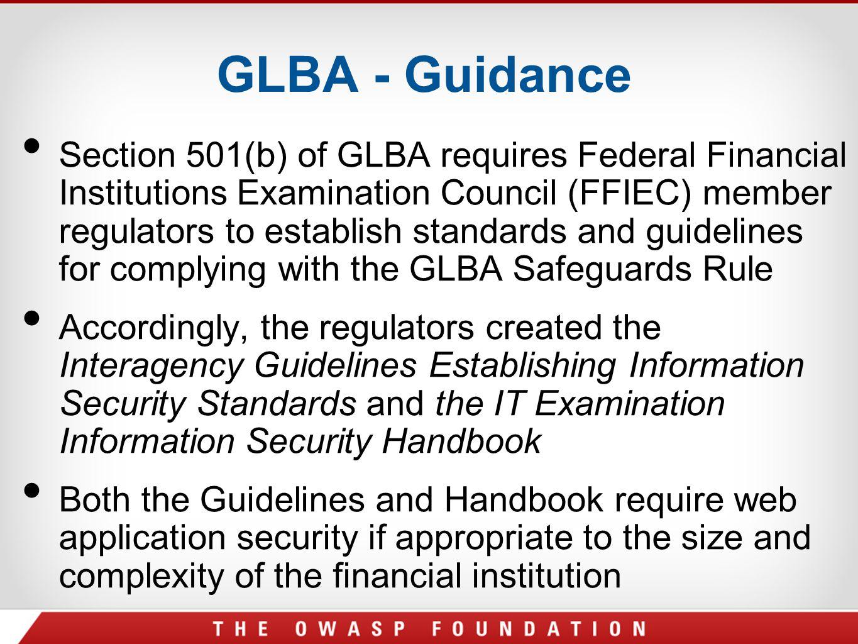 GLBA - Guidance