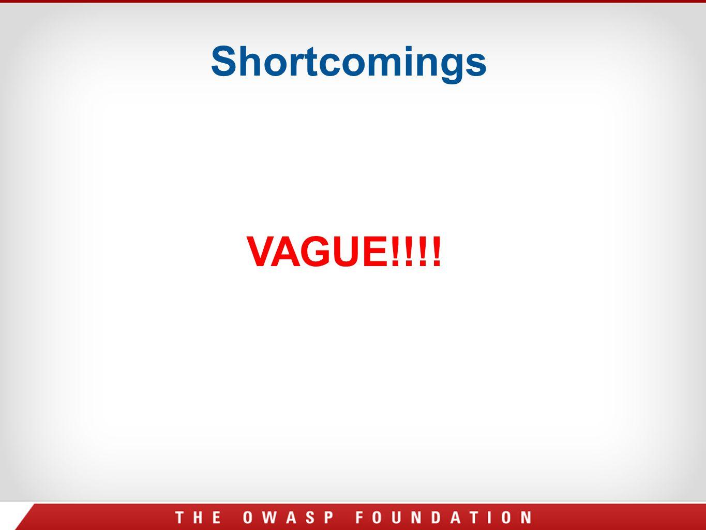 Shortcomings VAGUE!!!!