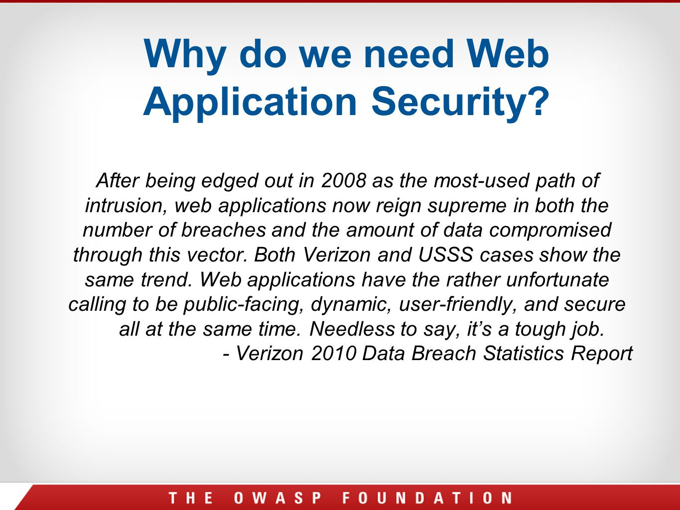 Why do we need Web Application Security