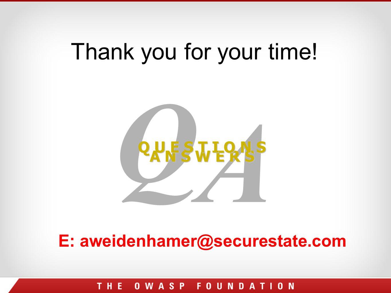 E: aweidenhamer@securestate.com