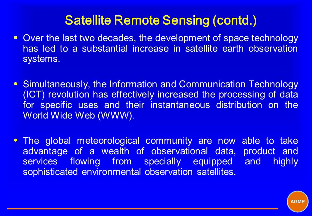 Satellite Remote Sensing (contd.)