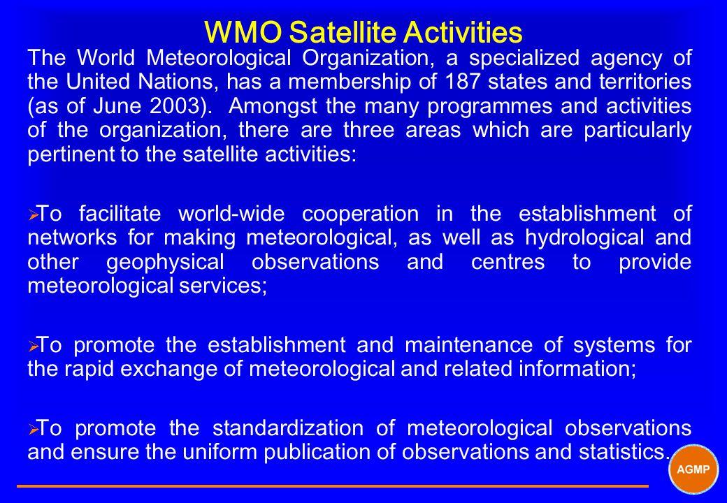 WMO Satellite Activities