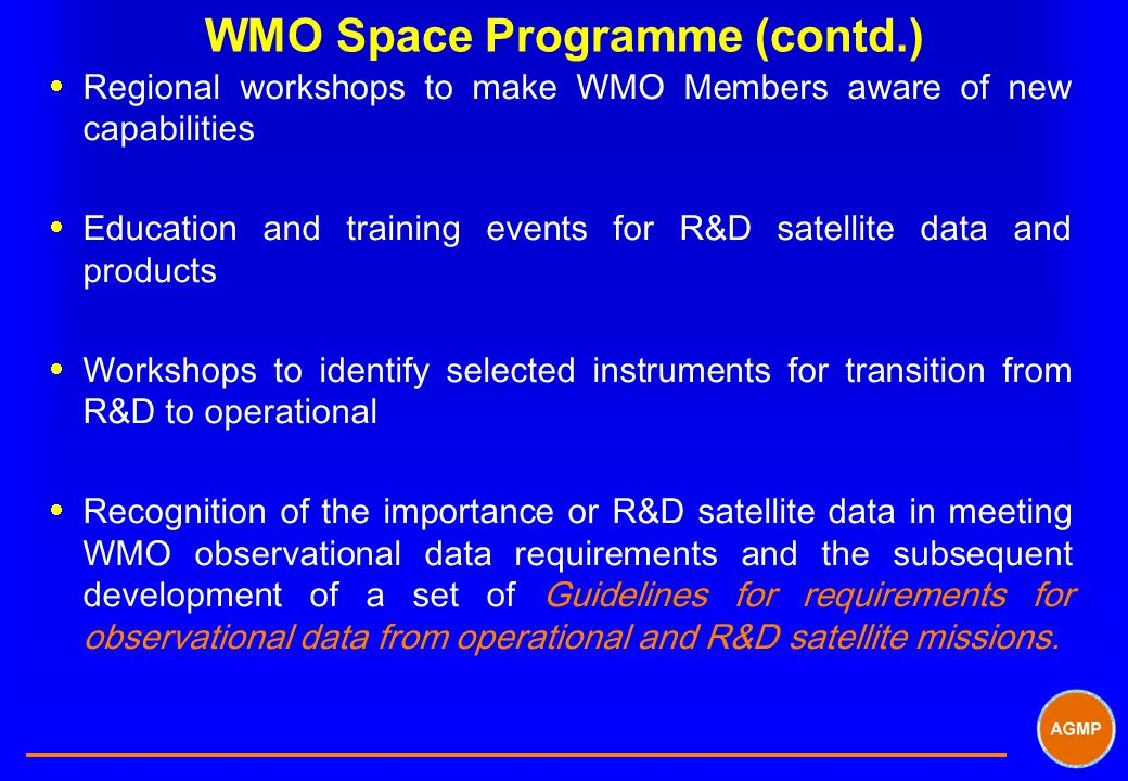 WMO Space Programme (contd.)