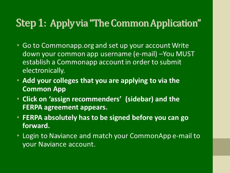 Step 1: Apply via The Common Application