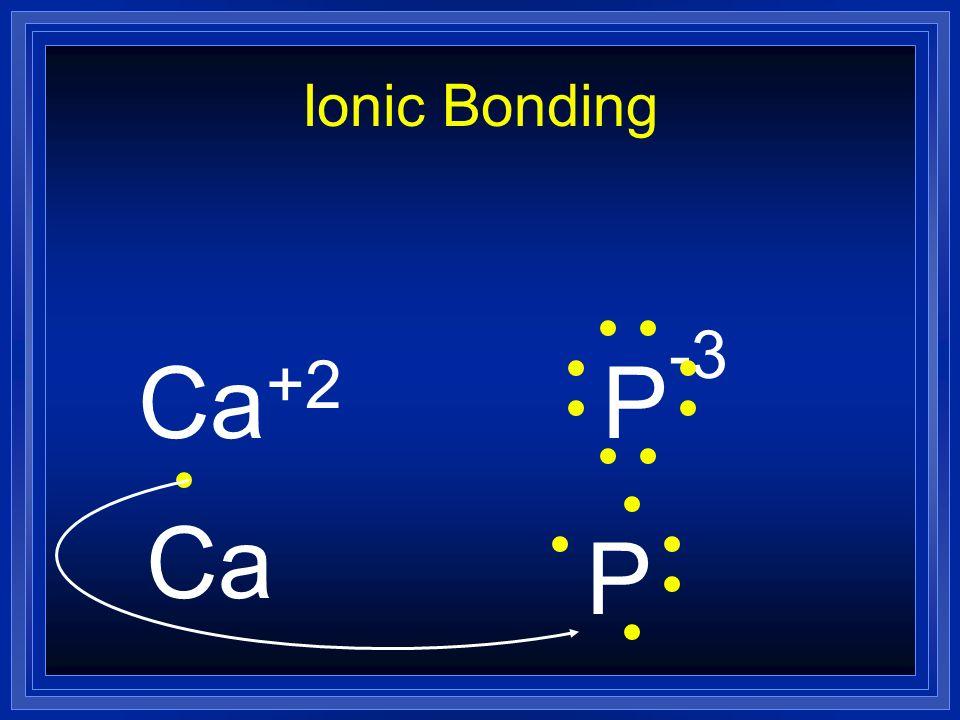 Ionic Bonding Ca+2 P-3 Ca P