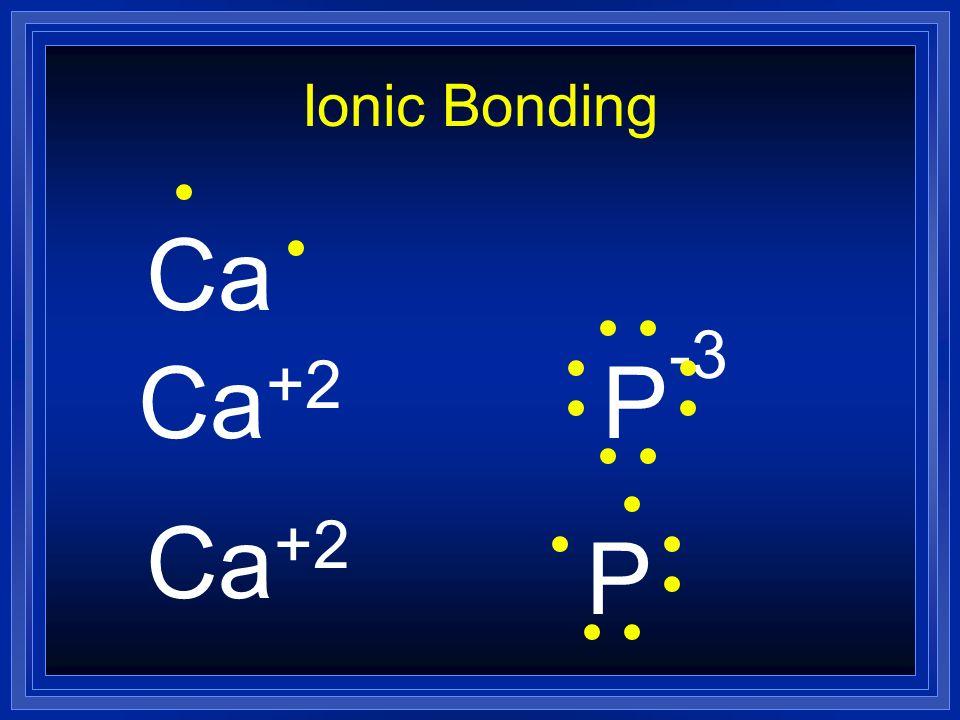 Ionic Bonding Ca Ca+2 P-3 Ca+2 P