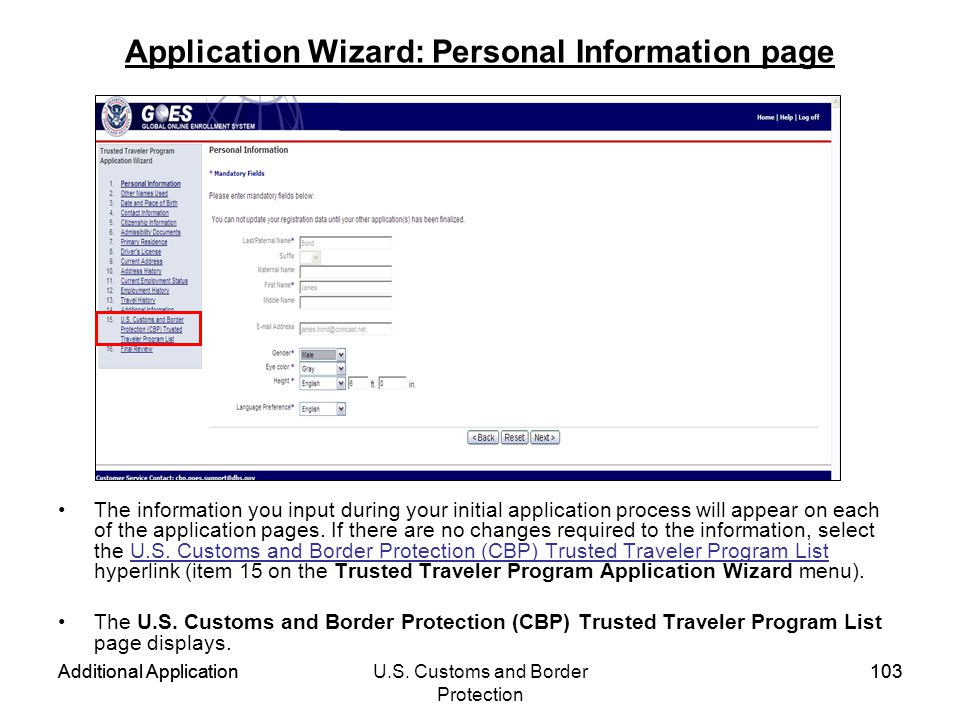Application Wizard: Personal Information page