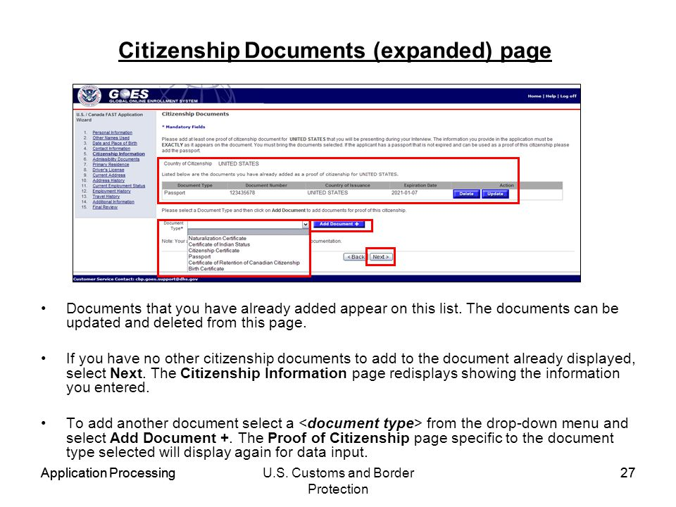 Citizenship Documents (expanded) page