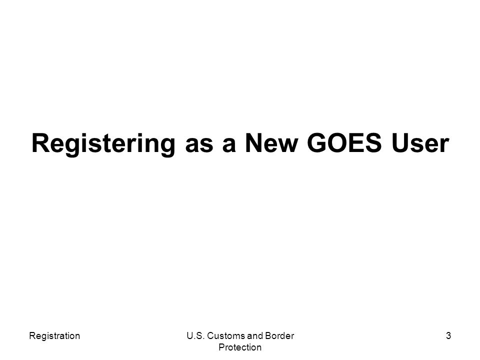 Registering as a New GOES User