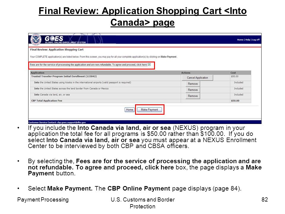 Final Review: Application Shopping Cart <Into Canada> page