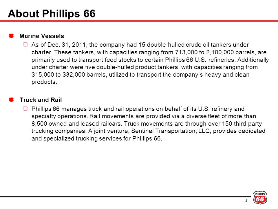 About Phillips 66 Marine Vessels