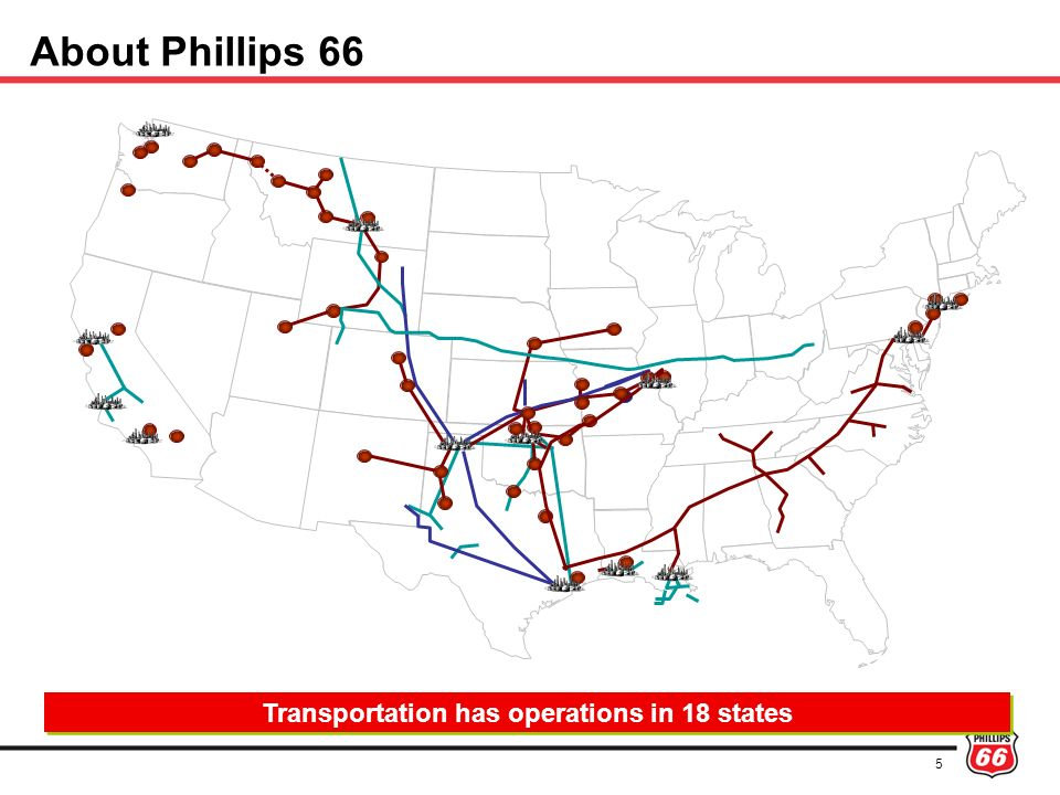 Transportation has operations in 18 states