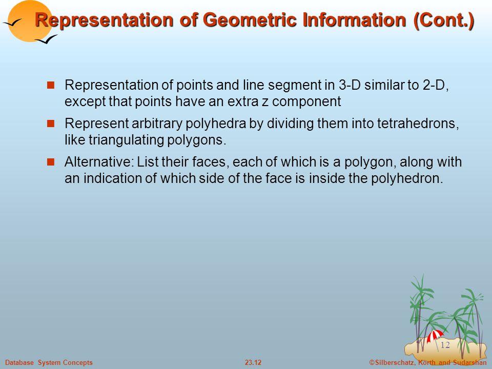 Representation of Geometric Information (Cont.)