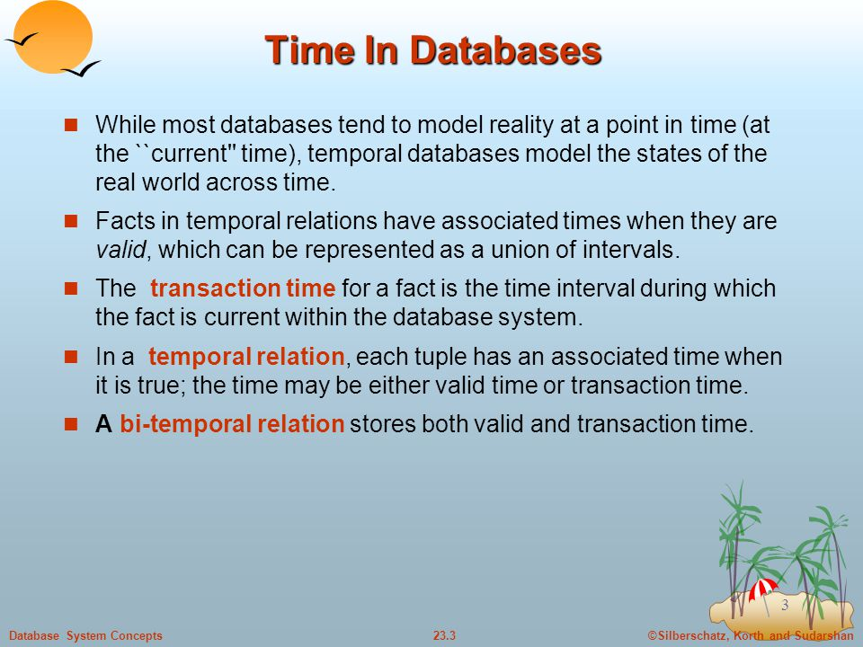Time In Databases