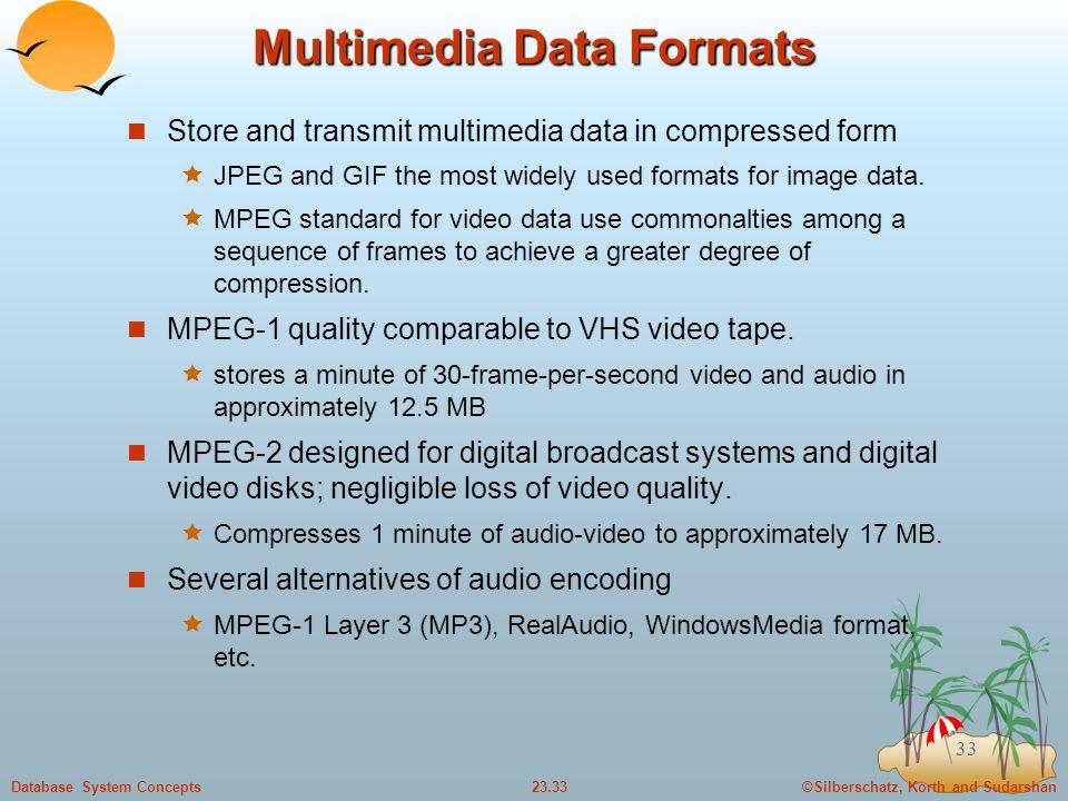 Multimedia Data Formats