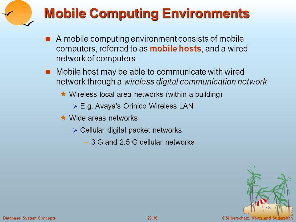Mobile Computing Environments
