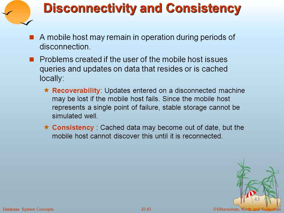 Disconnectivity and Consistency