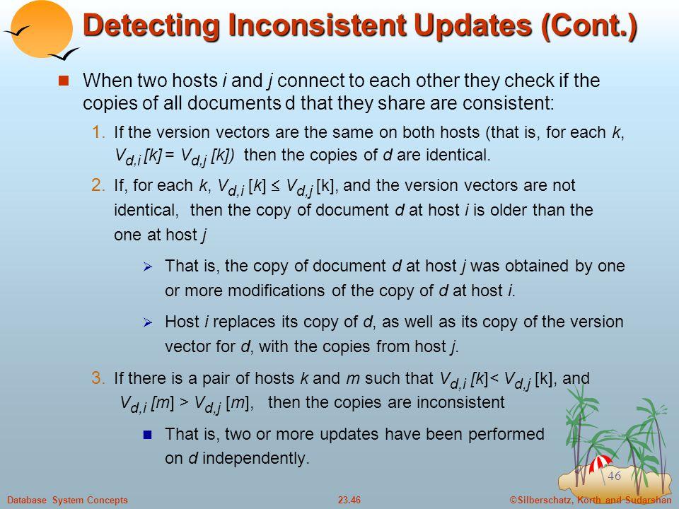Detecting Inconsistent Updates (Cont.)
