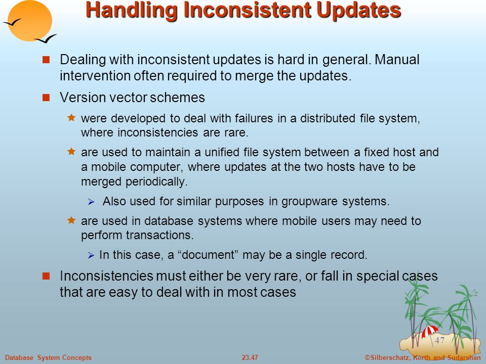 Handling Inconsistent Updates