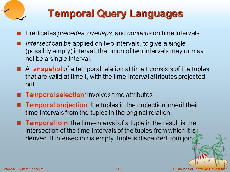 Temporal Query Languages