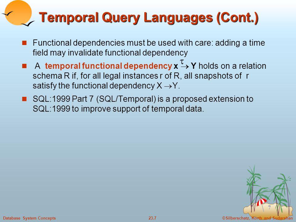 Temporal Query Languages (Cont.)