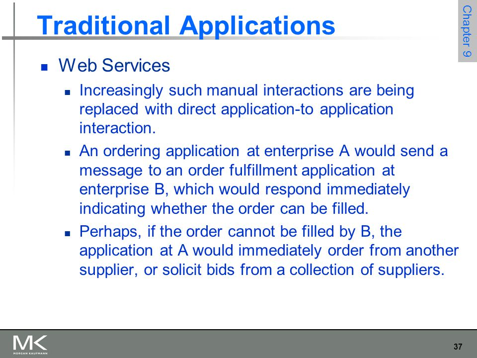 Traditional Applications