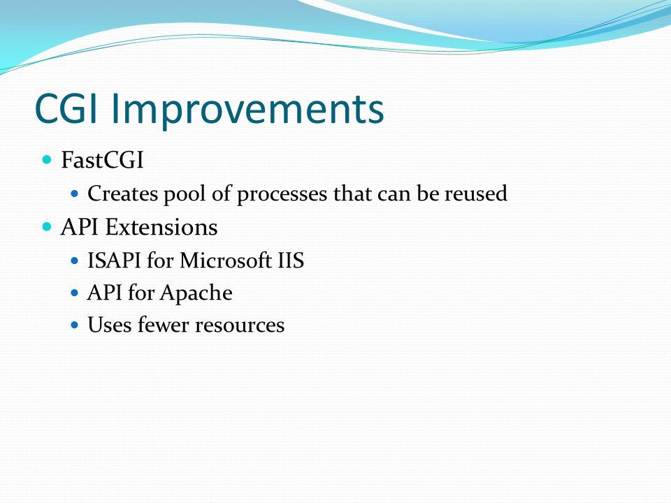 CGI Improvements FastCGI API Extensions
