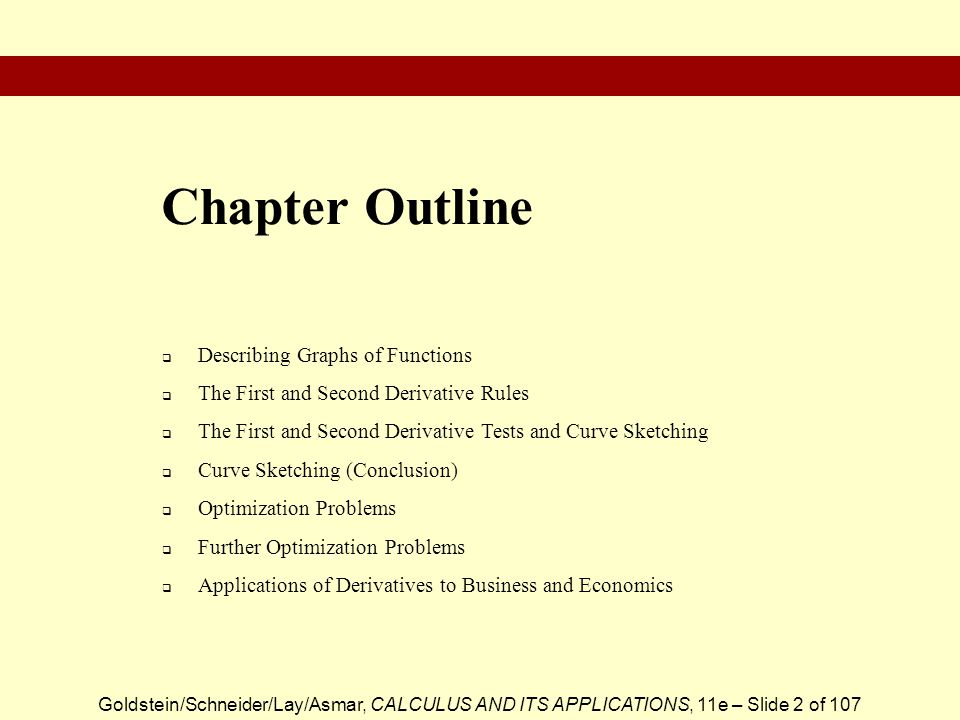 Chapter Outline Describing Graphs of Functions