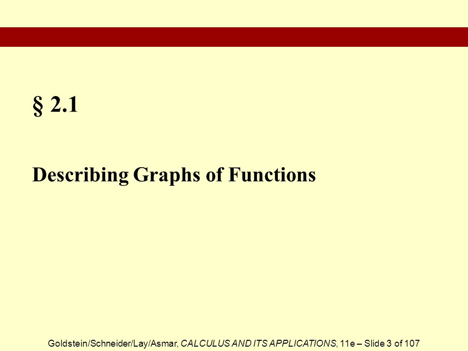 § 2.1 Describing Graphs of Functions