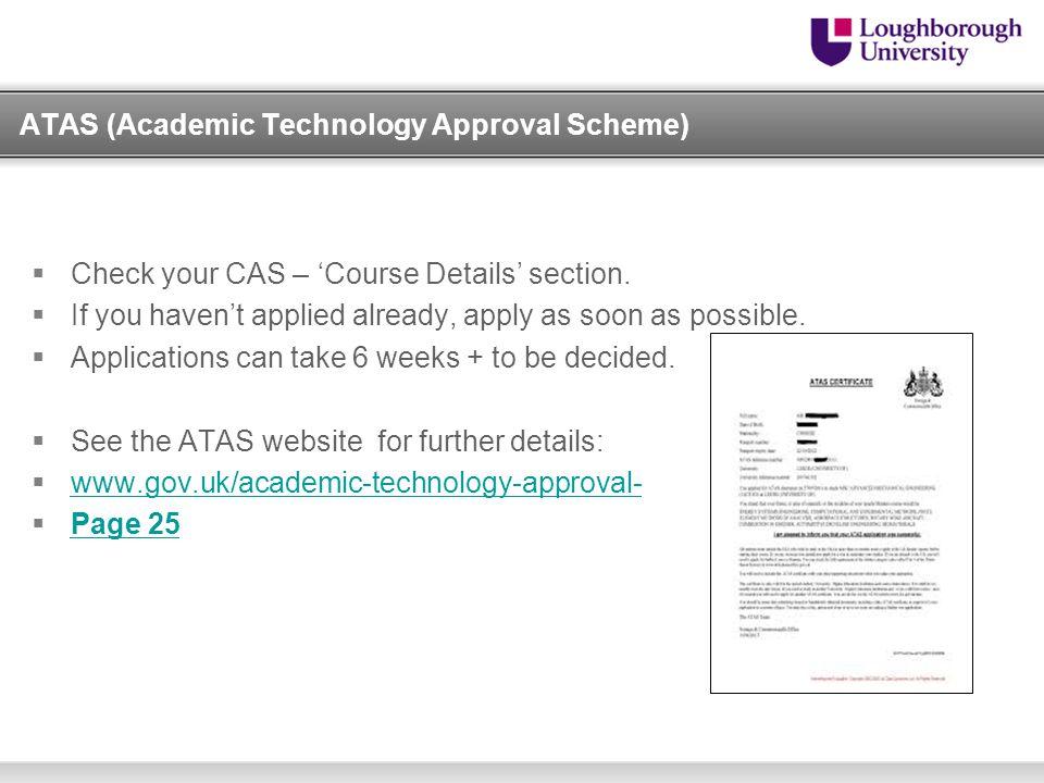 ATAS (Academic Technology Approval Scheme)