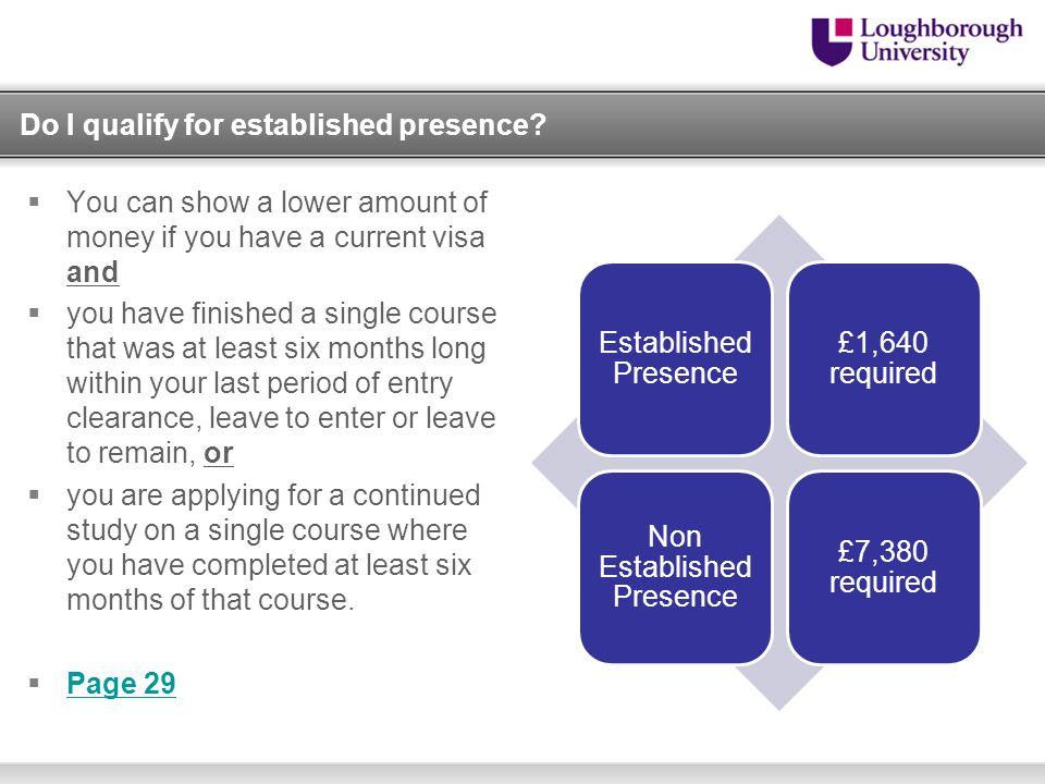 Do I qualify for established presence