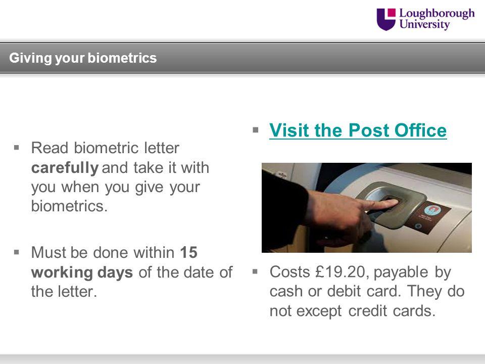 Giving your biometrics