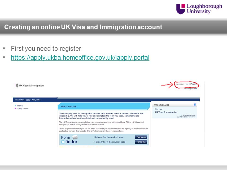 Creating an online UK Visa and Immigration account