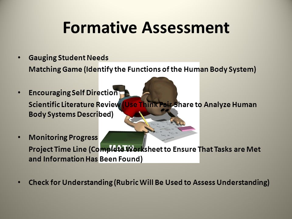 Formative Assessment Gauging Student Needs