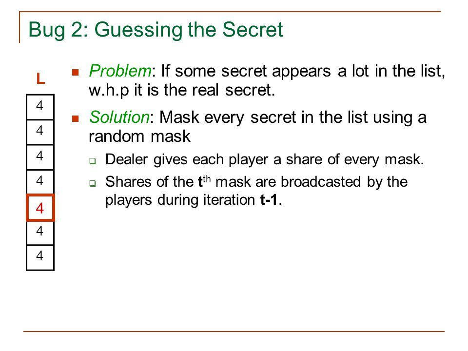 Bug 2: Guessing the Secret