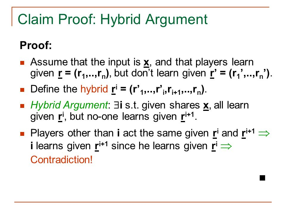 Claim Proof: Hybrid Argument