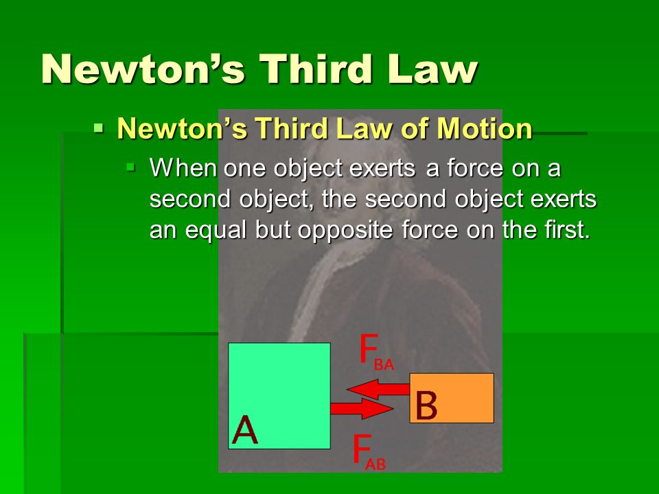 Newton's Third Law Newton's Third Law of Motion