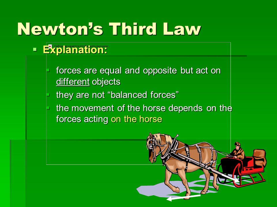 Newton's Third Law Explanation: