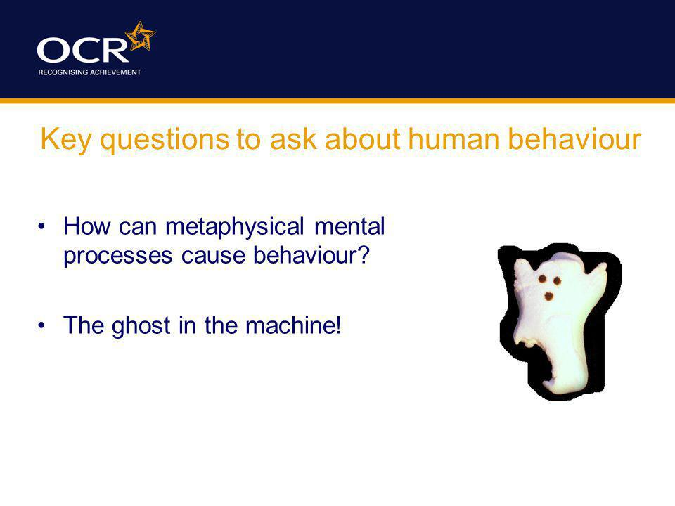 Key questions to ask about human behaviour