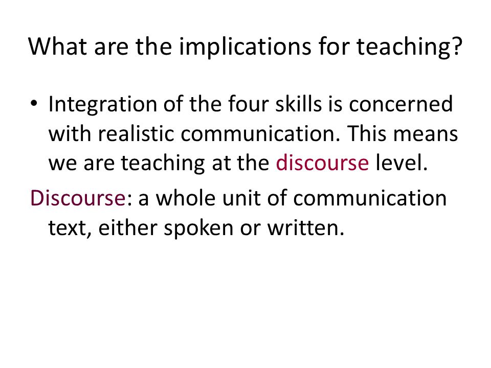 What are the implications for teaching