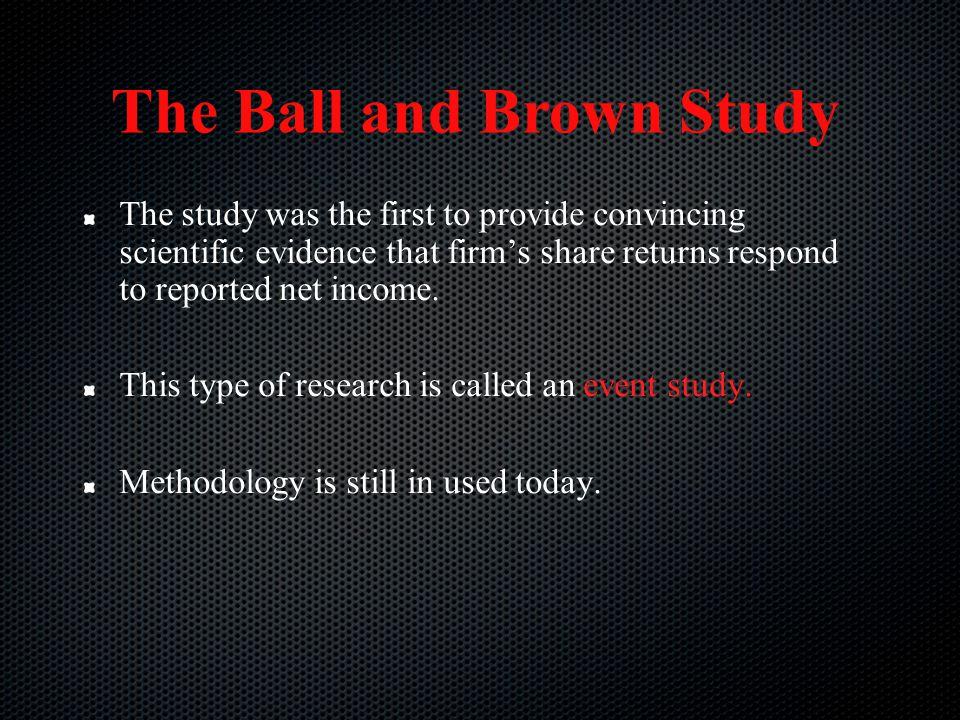 The Ball and Brown Study