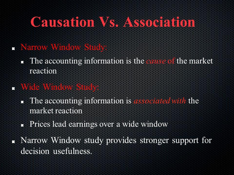 Causation Vs. Association
