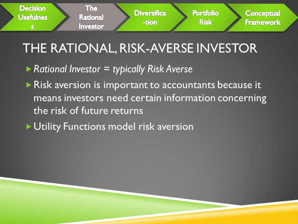 The Rational, Risk-Averse Investor