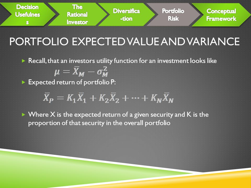 Portfolio Expected Value and Variance