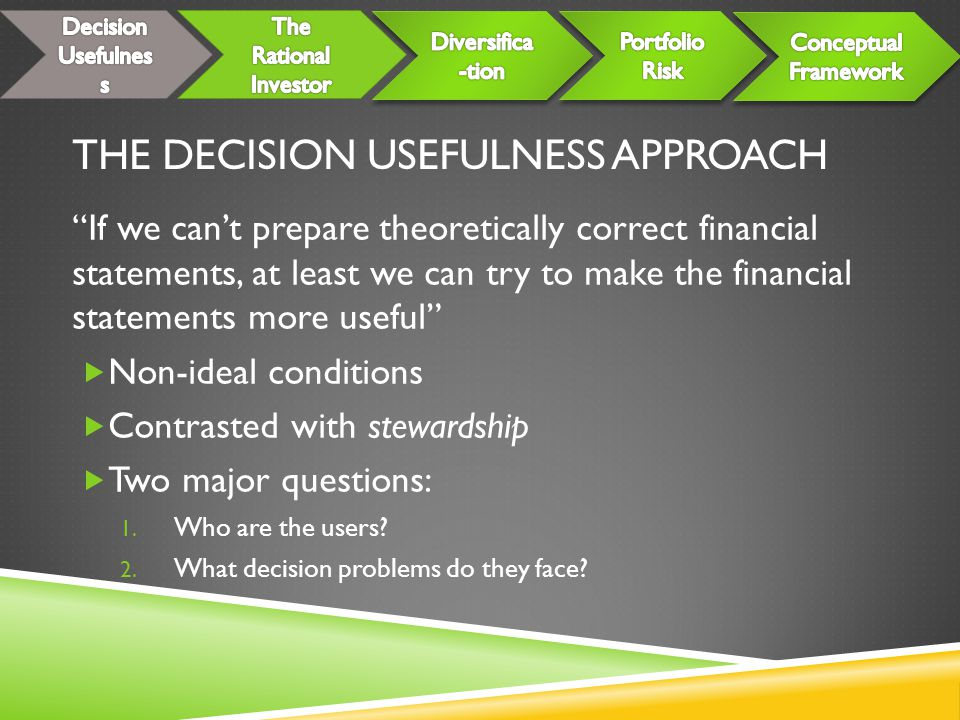The Decision Usefulness Approach