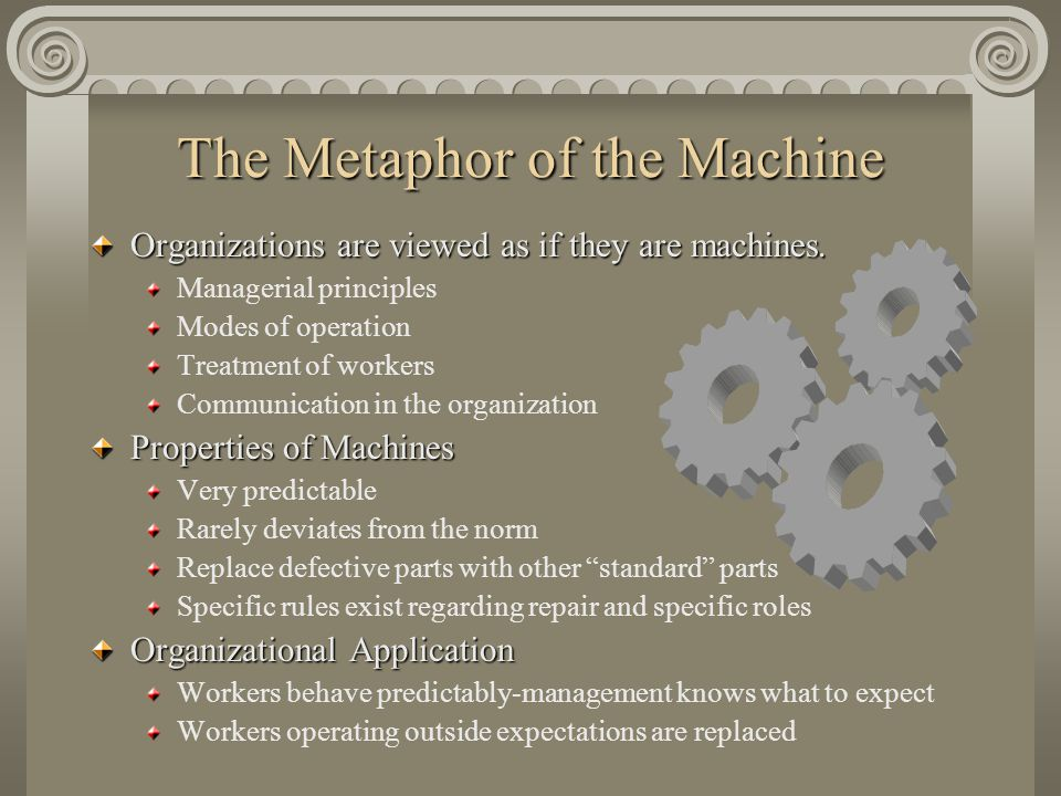 The Metaphor of the Machine