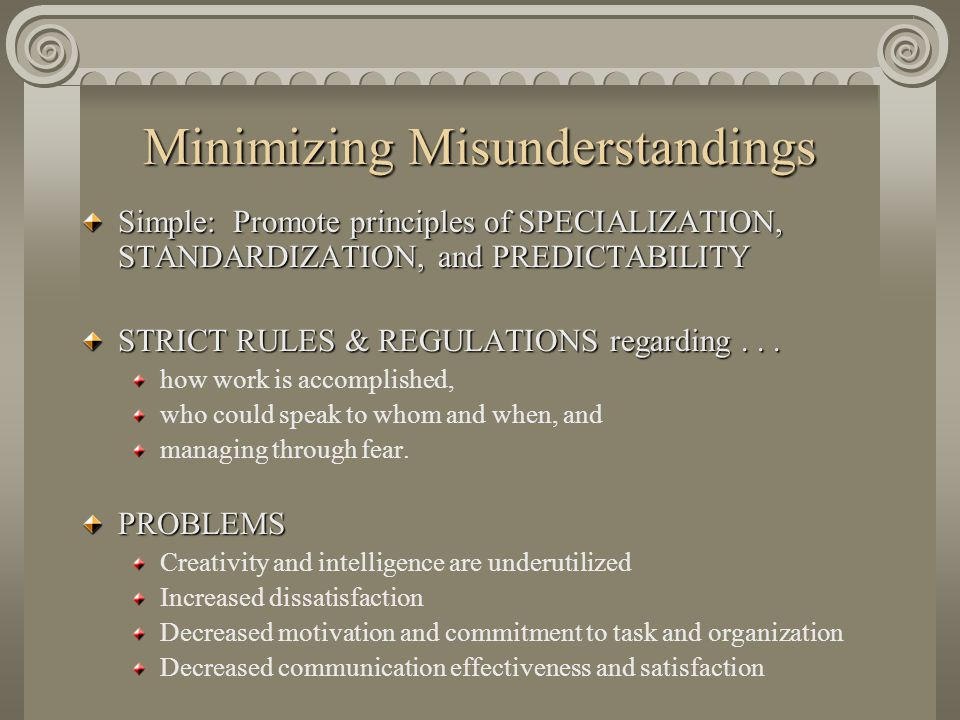 Minimizing Misunderstandings