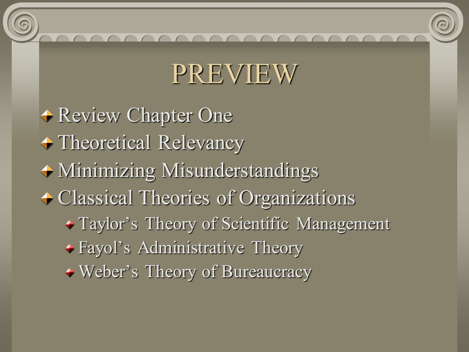 PREVIEW Review Chapter One Theoretical Relevancy