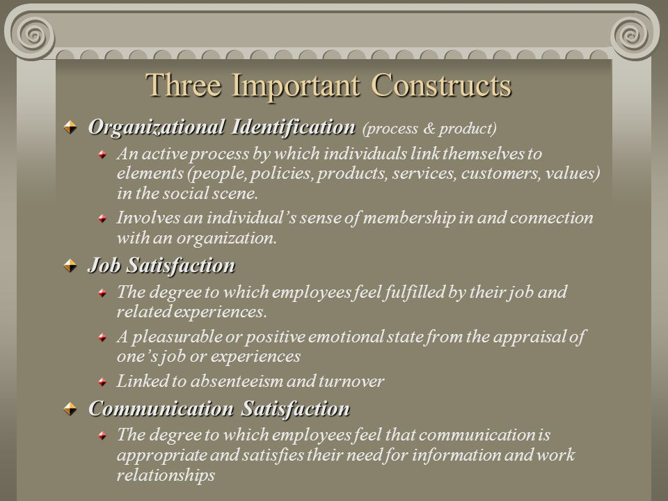 Three Important Constructs